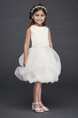 Organza Bubble Skirt Flower Girl Dress CR1391
