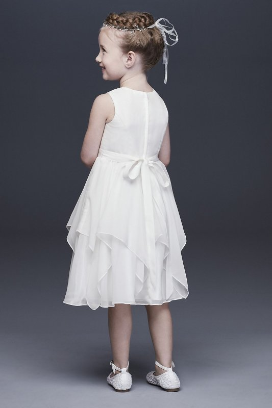 Chiffon Flower Girl Dress with Large Bow Sash OP253