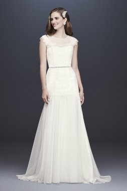 Eyelet Chiffon A-Line Wedding Gown Signature WG3923