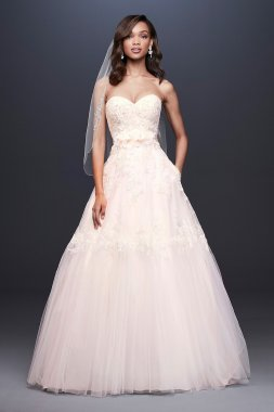 Lace Ball Gown Wedding Dress with Banded Skirt Collection WG3933