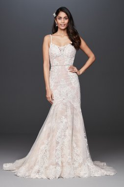 Lace Mermaid Wedding Dress with Moonstone Detail Signature SWG824