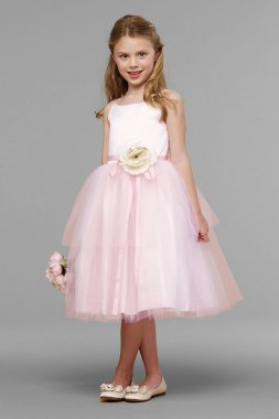 Tulle Spaghetti-Strap Flower Girl Dress 101