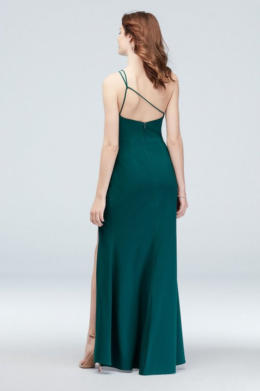 Asymmetric Shoulder Gown with Skinny Double Straps 2563X
