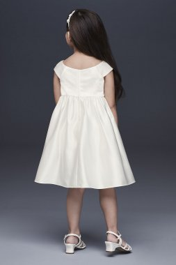 Embroidered Satin Floral Flower Girl Dress OP255