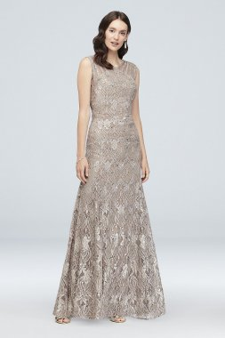 Elegant Sequin Lace Mermaid Dress with Illusion Detail Style 3198