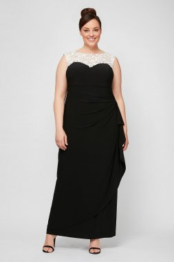 Plus Size Long Matte Jersey Special Occassion Dress 4351423