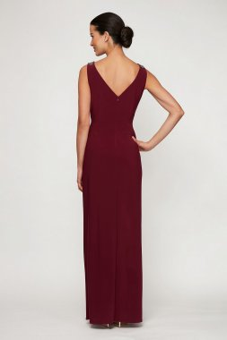 Tank V-neck Long A-line Special Occassion Gown 81351490