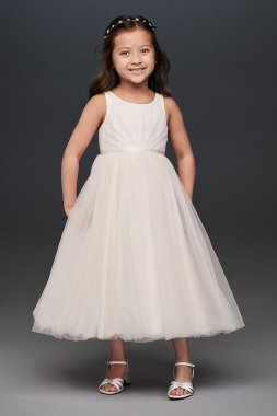 Tank Sleeveless Pleated CR1403 Style Flower Girl Dress