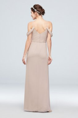Extra Length Off-the-Shoulder Bridesmaid Dress 4XLF20010
