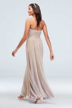 Long Strapless F20051 Style Bridesmaid Dress