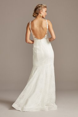 New Style Tank Removable Straps Long Organza Empire Wedding Dress WG3838