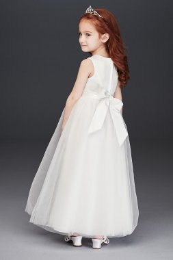 Flower Girl Long Tulle Skirt Dress Style OP263