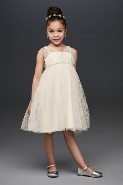 OP264 Style Flower Girl Dress Knee Length