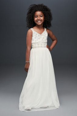 New Style Double Strap SC443D01MTAT Style A-line Flower Girl Dress
