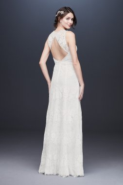 Illusion Sweetheart Open Back Lace Wedding Dress WG3953