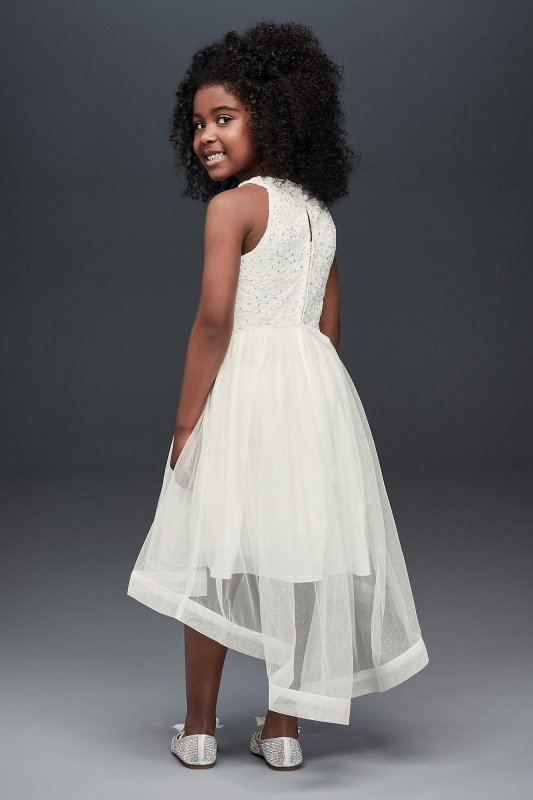 High-Low Lace and Tulle Flower Girl Dress Speechless SC436D02H908