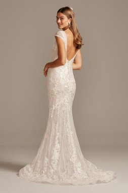 Fancy New Style Lace Mermaid Wedding Dress CWG747