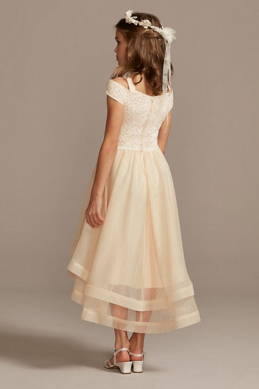Off-the-Shoulder Lace and Tulle Flower Girl Dress SC476D01H908