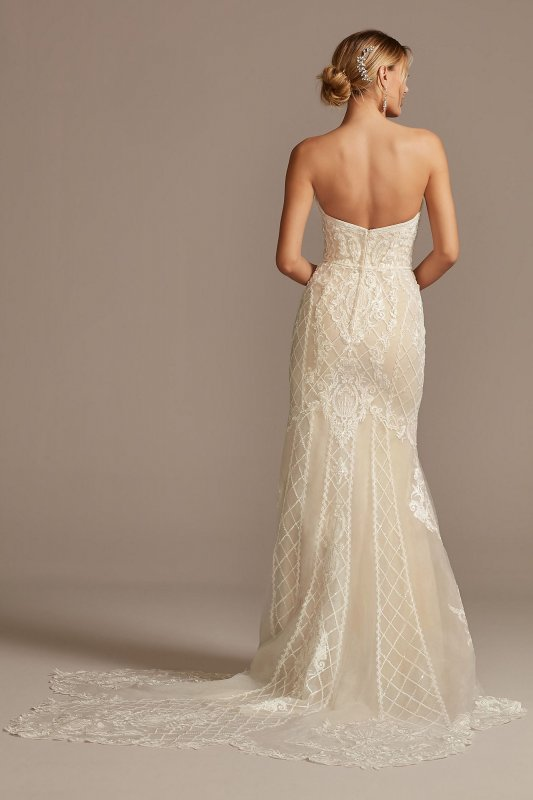 Scroll and Lace Mermaid Petite Wedding Dress 7CWG878