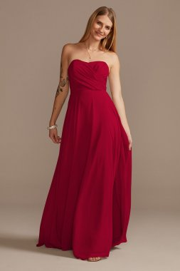 Strapless Full Skirt Bridesmaid Dress David's Bridal F20321