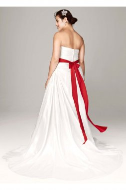 Taffeta A Line Gown with Sweetheart Neckline Style 9WG3243