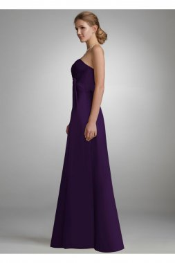Strapless Long Charmeuse Dress with Slit Style F44447