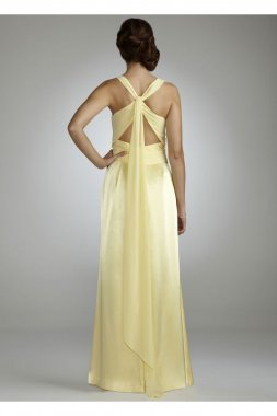 Sleeveless Charmuese Gown with Open Back Style F15034