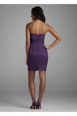 Strapless Short Dress with Egg Shaped Skirt Style 85003