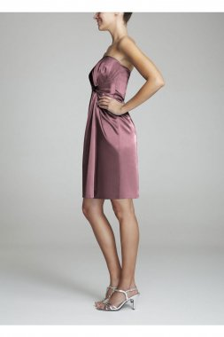 Short Charmeuse Dress with Knot Detail Style F15128