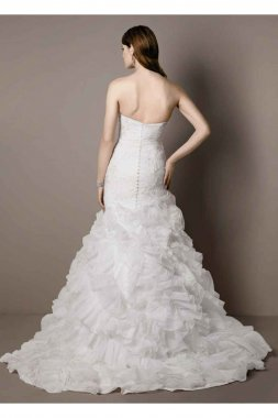 Wedding Gown with Lace Appliques and Ruffled Skirt Style SWG560
