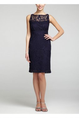 Sleeveless All Over Lace Short Dress Style 10424C
