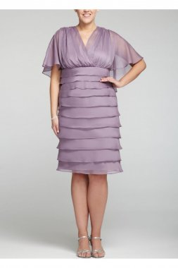 Short Caplet Yoryu Dress with Tiered Skirt Style LRB10W