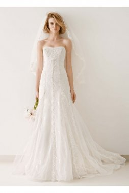 Tulle and Lace A-line Wedding Dress Style MS251044