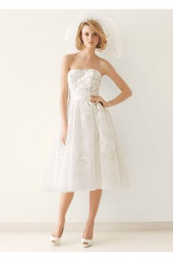 Wedding Dress with Diagonal Banding Style MS251047