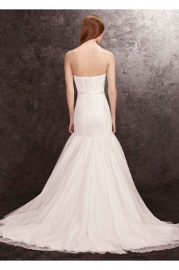 Organza Trumpet Wedding Dress Style VW351177