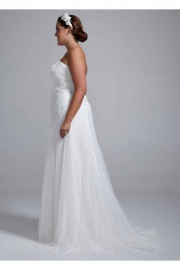 Strapless Tulle Wedding Gown with Lace Embroidery Style 9WG3492
