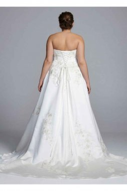 Strapless Corset Ball Gown with Lace Appliques Style 9WG3627