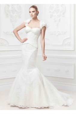 Flutter Sleeve Wedding Dress Style ZP345003