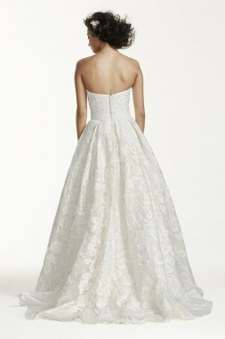 Laser Cut Organza Wedding Dress Style CWG631