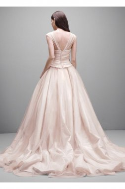 Taffeta and Tulle Wedding Dress Style VW351233