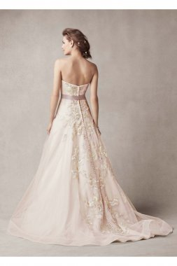 Wedding Dress with Two Toned Skirt Style MS251074