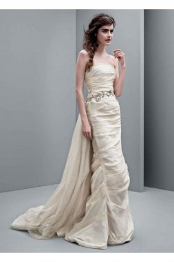 Taffeta Column Wedding Dress Style VW351231