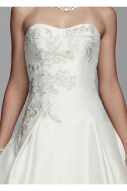 Mikado and Lace Wedding Dress Style CWG628