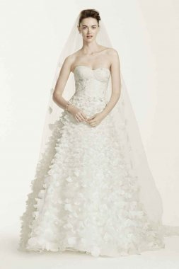 Lace Wedding Dress with 3D Flowers Style CWG660