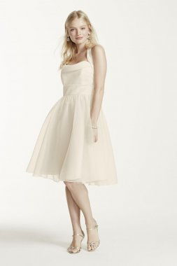 Short Halter Organza Dress with Full Skirt Style F15900