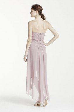 Strapless High Low Dress with Split Front Detail Style F15678