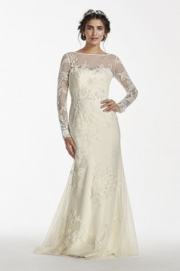 Long Sleeved Lace Wedding Dress Style MS251113