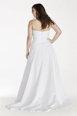 Strapless A Line Gown with Dropped Waist Style 9WG3743