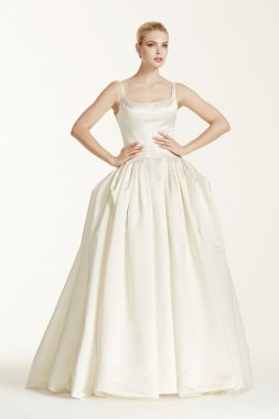 Satin Wedding Dress with Pleating Style ZP341501