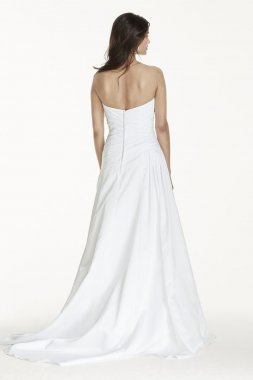 Extra Length Strapless Gown with Dropped Waist Style 4XLWG3743